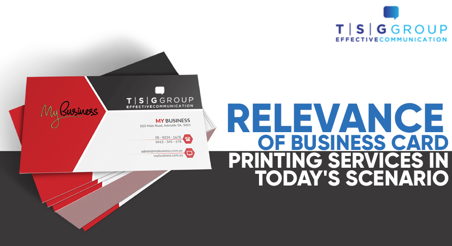 Relevance of Business Card Printing Services in Today's Scenario